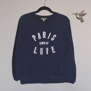 ZARA Paris Sweatshirts Navy S